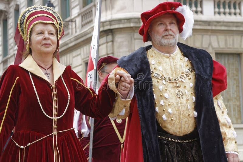 A renaissance couple stock image