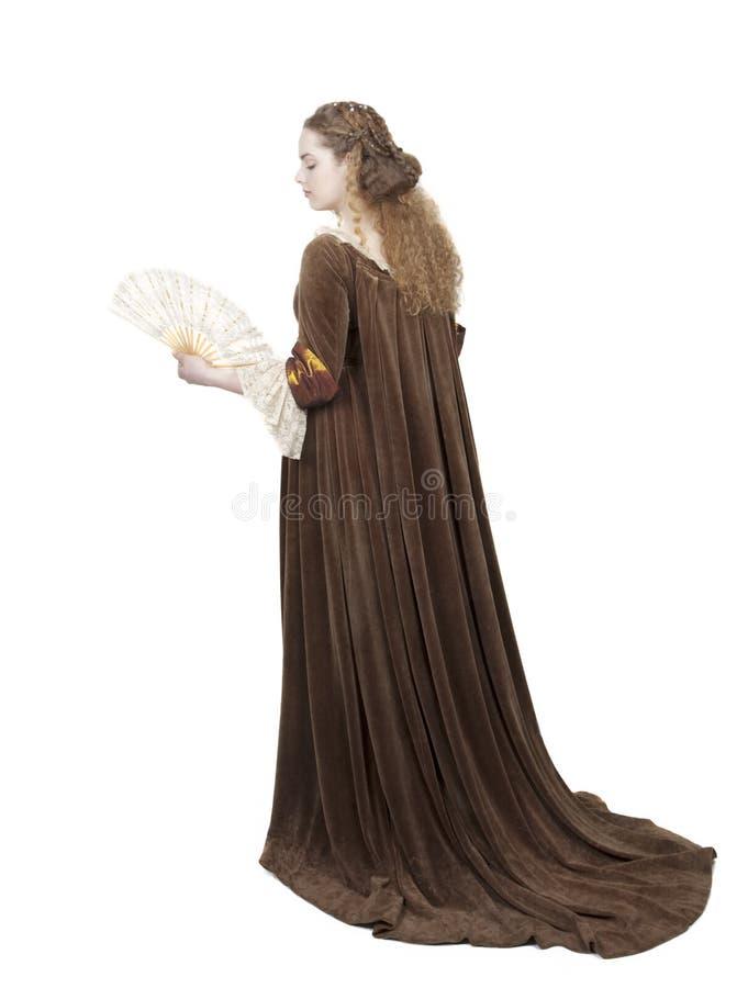 Renaissance dress royalty free stock photo