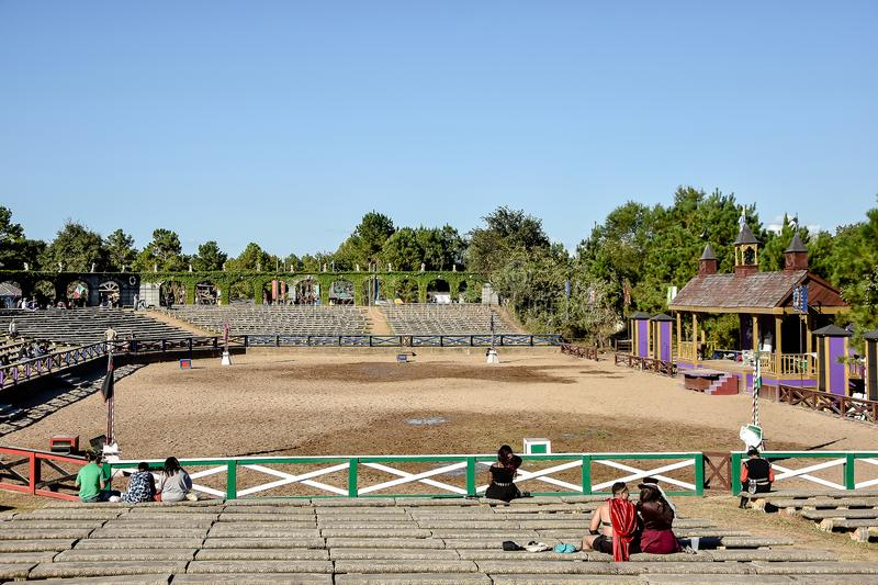 Renaissance Festival Jousting Arena. royalty free stock images