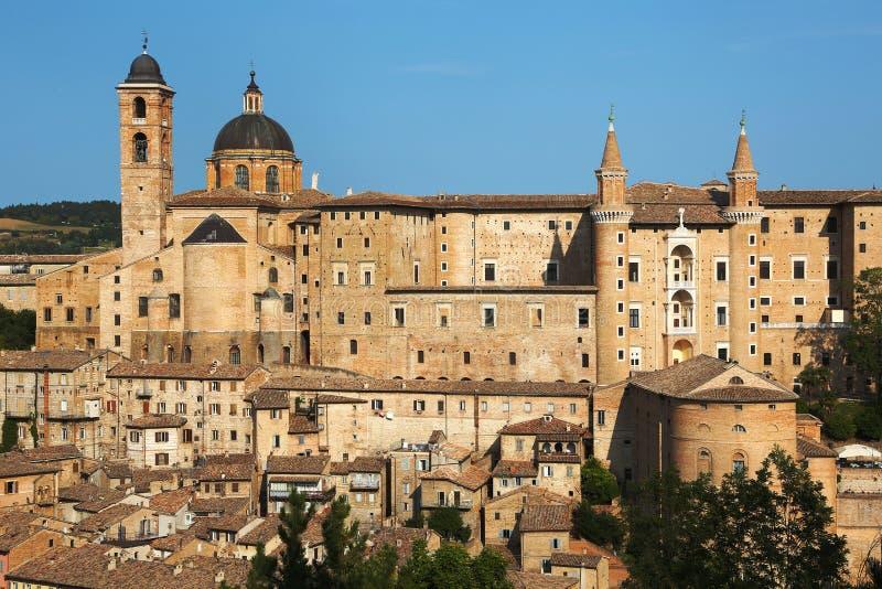 Renaissance Hertogelijk Paleis van Urbino, Italië royalty-vrije stock fotografie