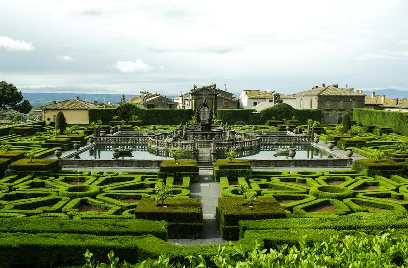 Renaissance Italiaanse tuin royalty-vrije stock fotografie