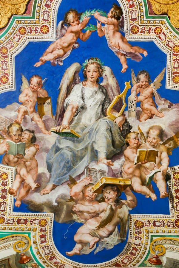 Renaissance-Malerei an Vatikan-Museum stockfotos
