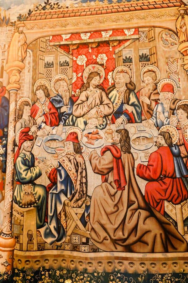 Renaissance-Malerei an Vatikan-Museum stockfotografie
