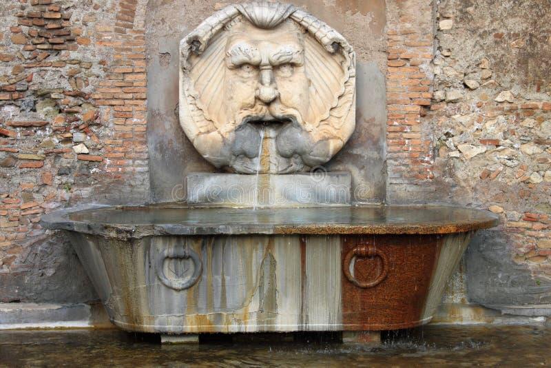 Renaissance marble fountain royalty free stock image