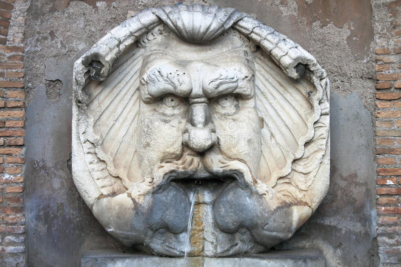 Renaissance marmeren fontein royalty-vrije stock foto's
