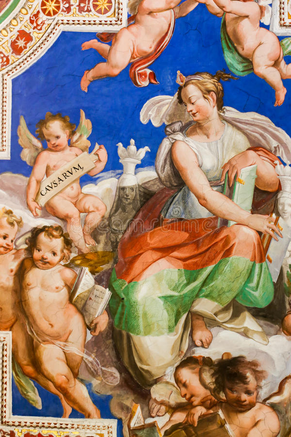 Renaissance Painting at Vatican Museum. 22 April, 2015 Renaissance Arts and Painting at Vatican Museum in Rome, Italy royalty free stock photo