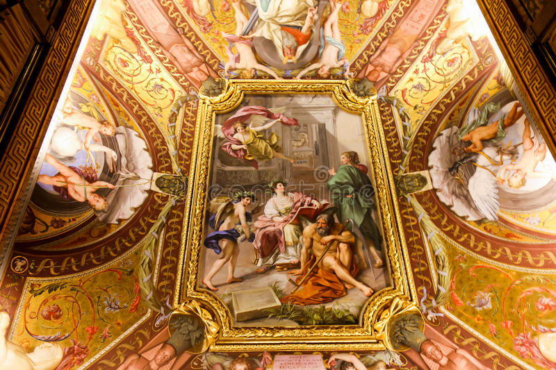 Renaissance Painting at Vatican Museum. 22 April, 2015 Renaissance Painting at Vatican Museum in Rome, Italy royalty free stock images