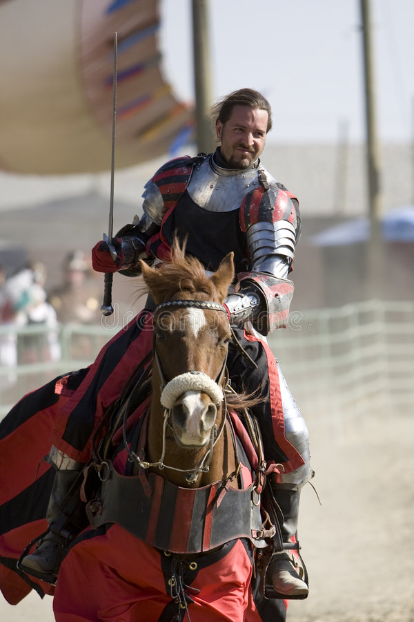 Renaissance Pleasure Faire - Knights on Horseback 2 stock photography