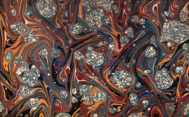Renaissance/Victorian Marbled Paper 44 stock photography