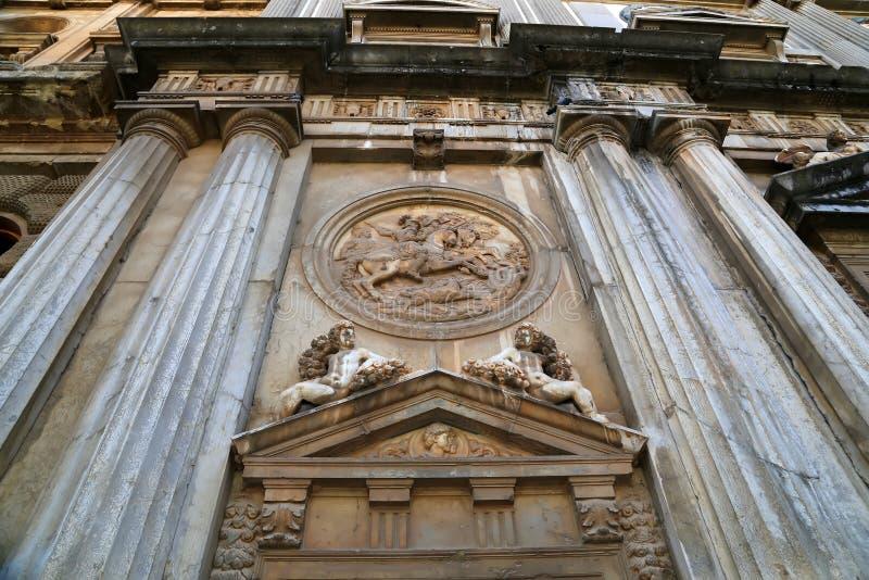 Renaissancepalast von Carlos V, Alhambra, Granada, Spanien lizenzfreies stockbild
