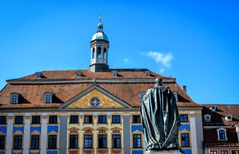 RenaissanceRathaus in Kammgarn-stoff, Deutschland lizenzfreie stockfotografie