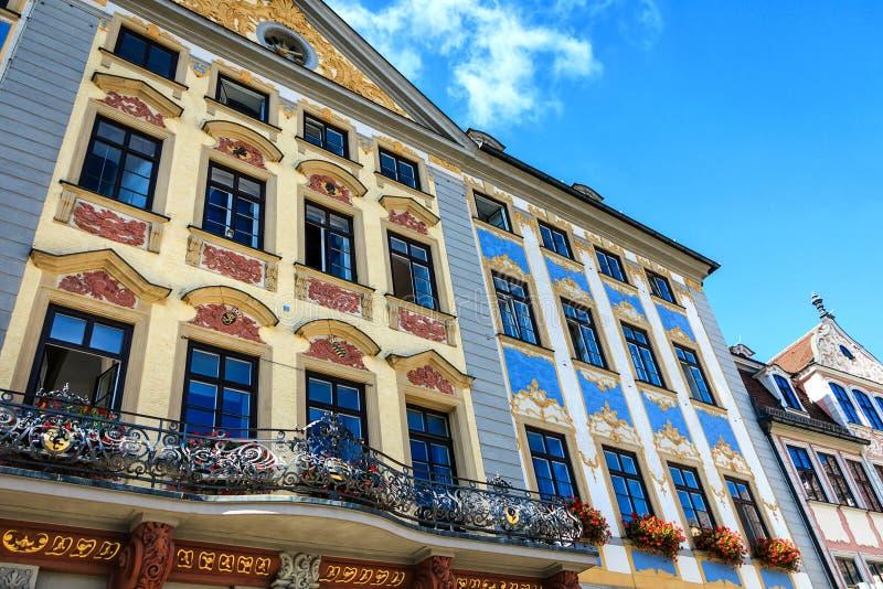 RenaissanceRathaus in Kammgarn-stoff, Deutschland stockbild