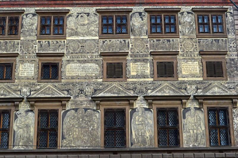 RenaissanceRathaus, Tschechische Republik Republik-Quadrat Plzen stockbilder