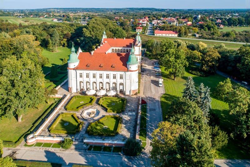 Renaissanceschloss in Baranow, Polen stockfotos