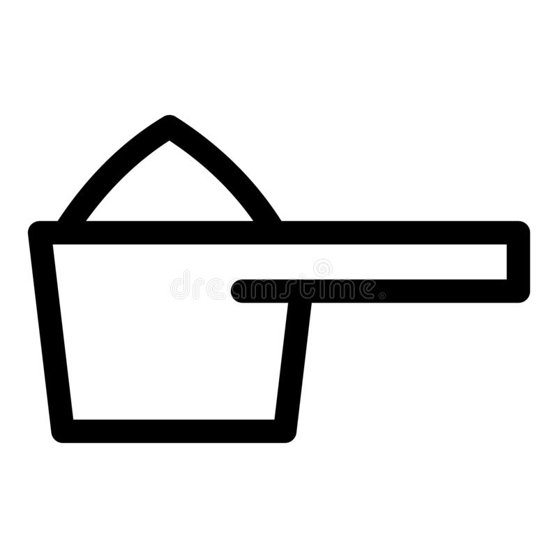 Renande skedsymbol för dos, översiktsstil royaltyfri illustrationer