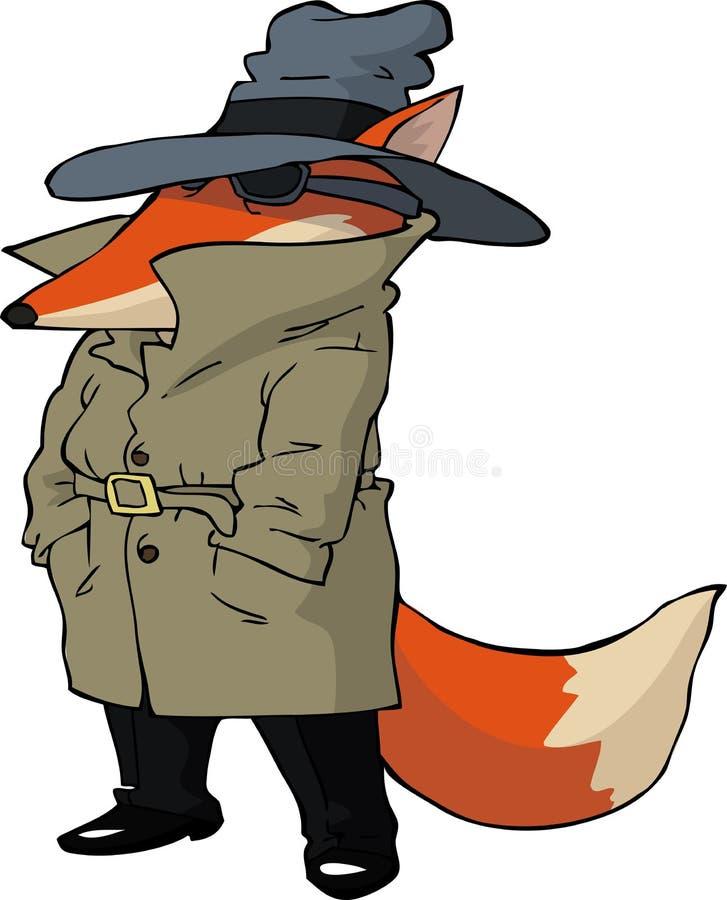 Renard d'espion illustration de vecteur