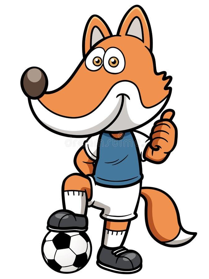 Renard de footballeur illustration stock