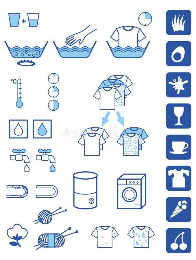renas pulversymboler royaltyfri illustrationer