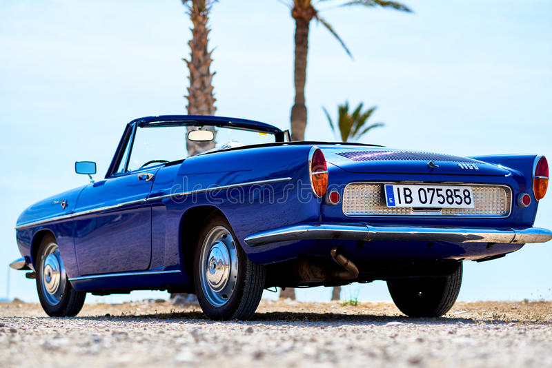 Renault Caravelle on the beach stock photography
