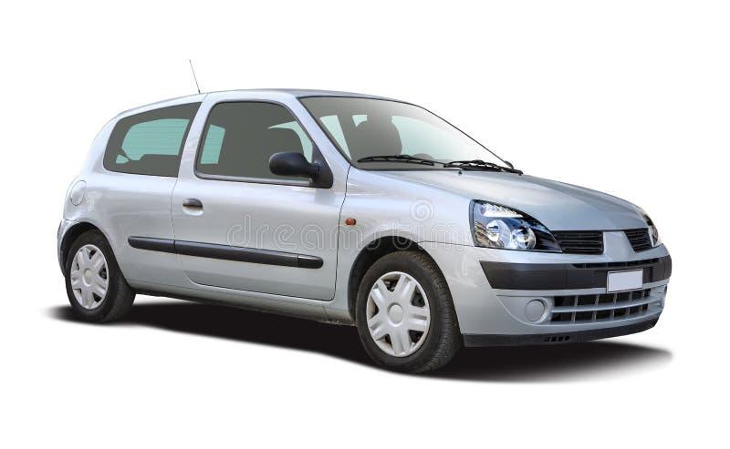 Renault Clio που απομονώνεται στο λευκό στοκ εικόνα