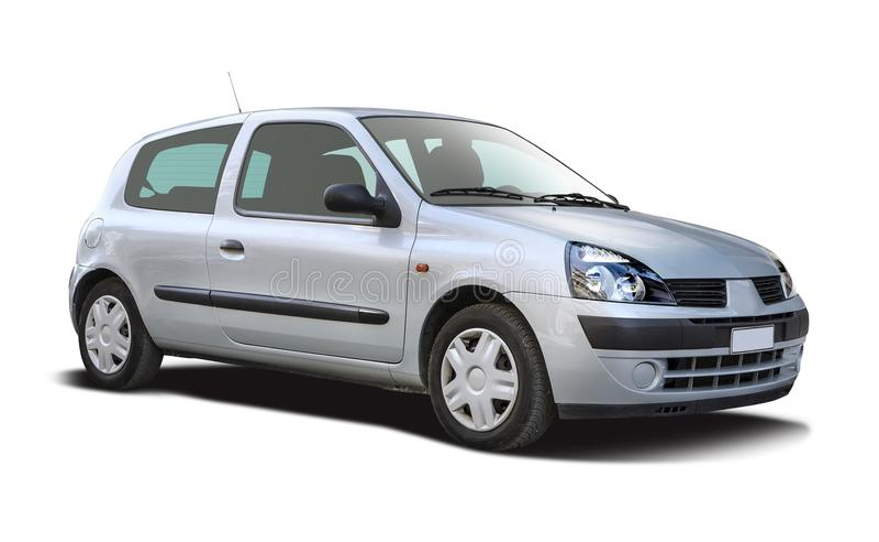 Renault Clio ha isolato su bianco immagine stock