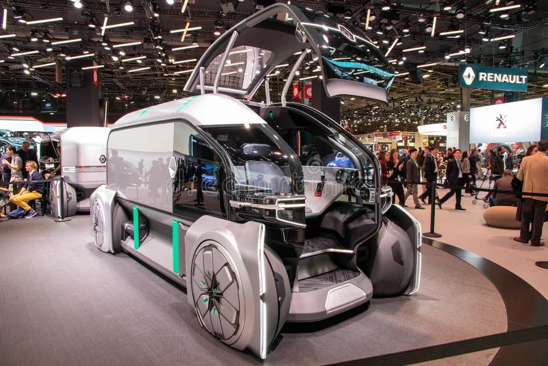 Renault EZ-Pro concept truck stock photography