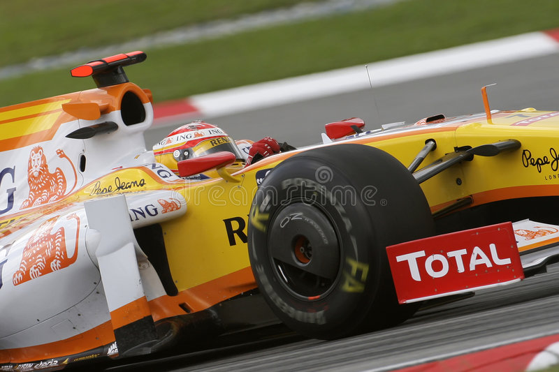 Renault F1 Team Fernando Alonso 2009 royalty free stock images