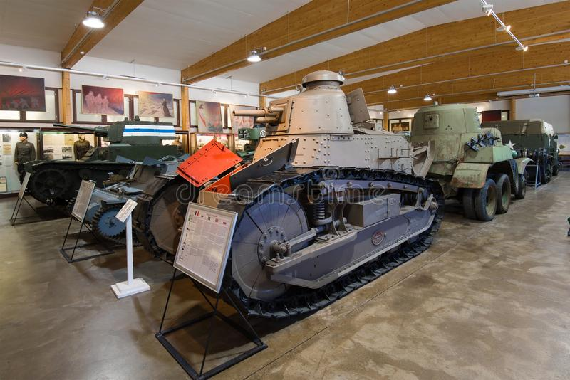 Renault FT of 1917, Parola. Finland. PAROLA, FINLAND - JUNE 10, 2017: Renault FT of 1917 in the exposition of the tank museum royalty free stock images