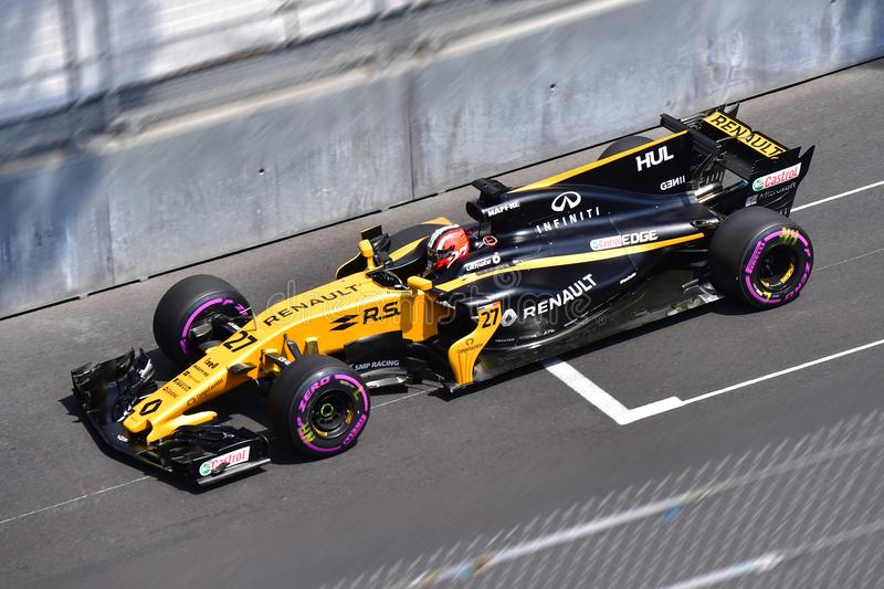 RENAULT-HULKENBERG-GP FORMULA 1 MONACO 2017 royalty free stock photography