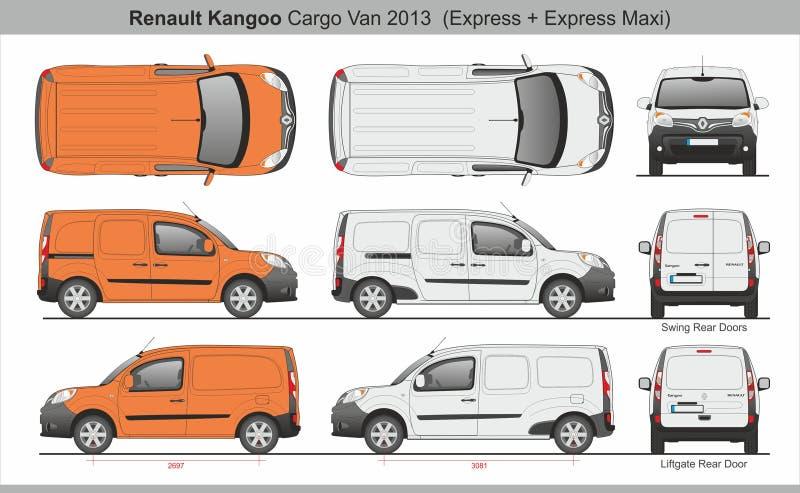 Renault Kangoo Cargo Van 2013 Uitdrukkelijk en Maxi vector illustratie