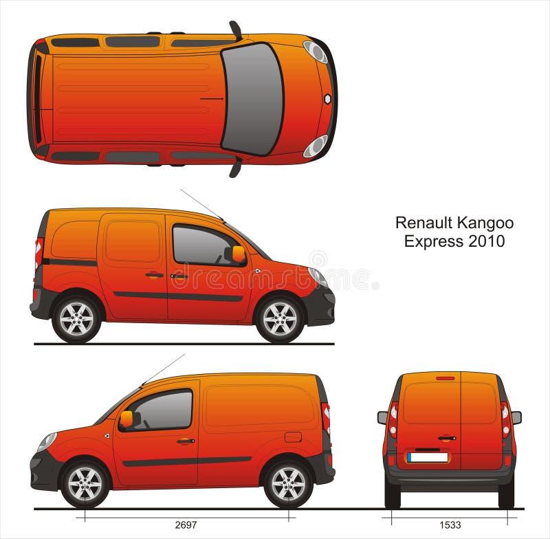 Renault Kangoo Express 2010 vector illustratie