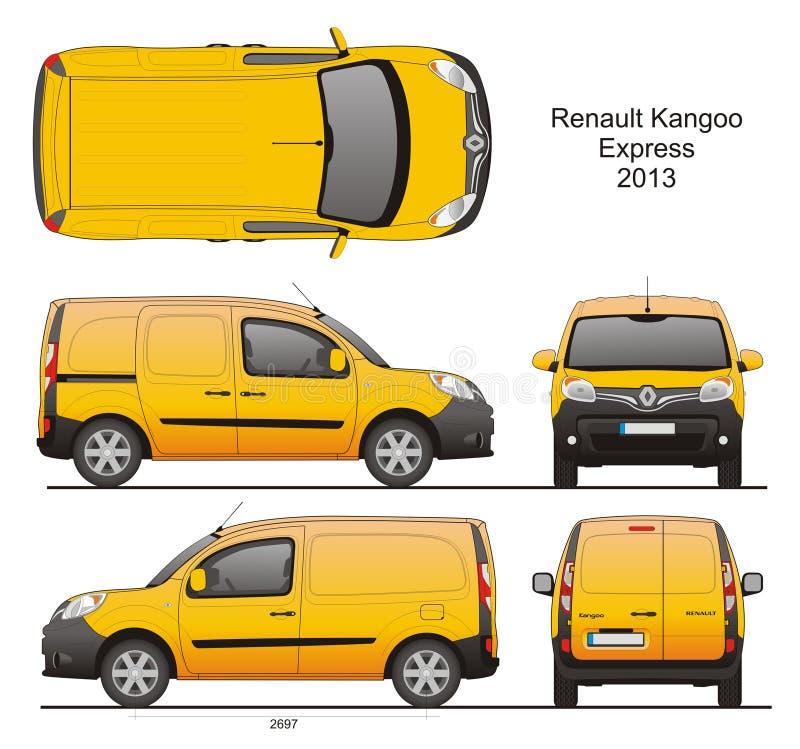 Renault Kangoo Express 2013 vector illustratie