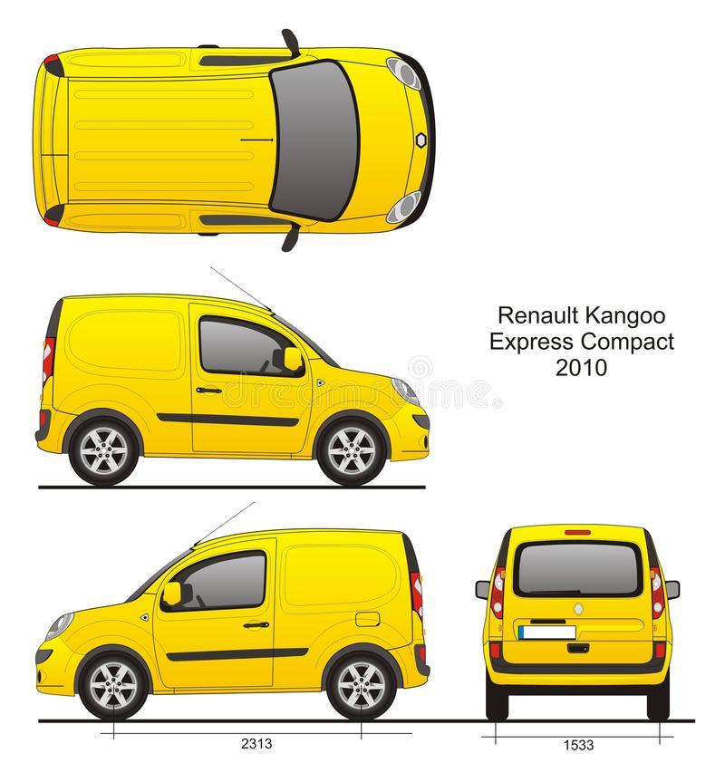 Renault Kangoo Express Compact 2010 royaltyfri illustrationer