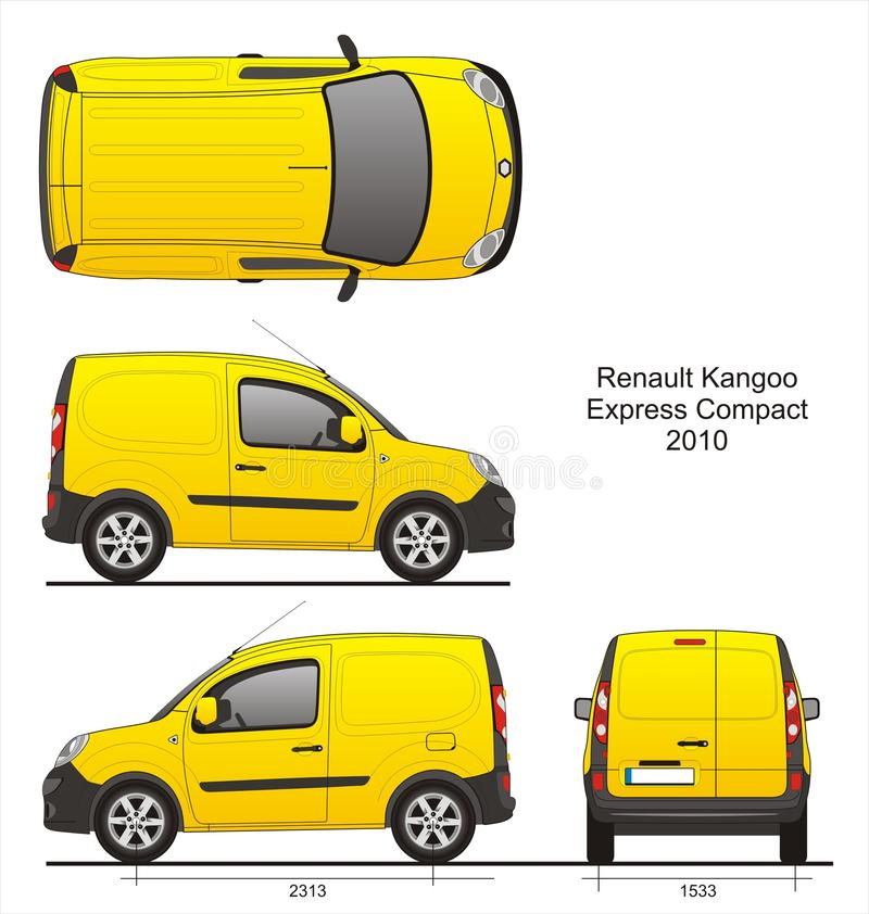 Renault Kangoo Express Compact 2010 stock illustrationer
