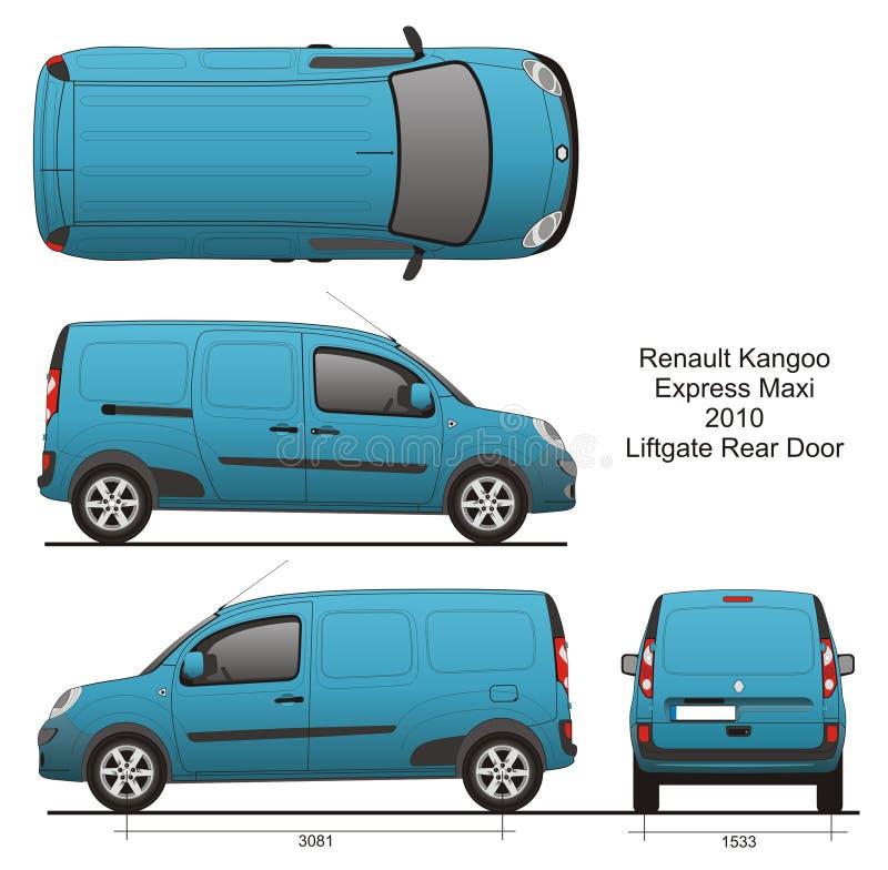 Renault Kangoo Express Maxi 2010 stock illustratie