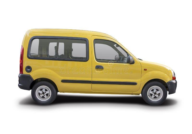 Renault Kangoo giallo fotografia stock libera da diritti