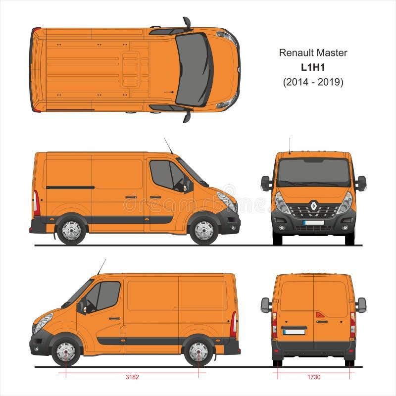 Renault Master Cargo Delivery Van L1H1 2014-2019 illustration libre de droits