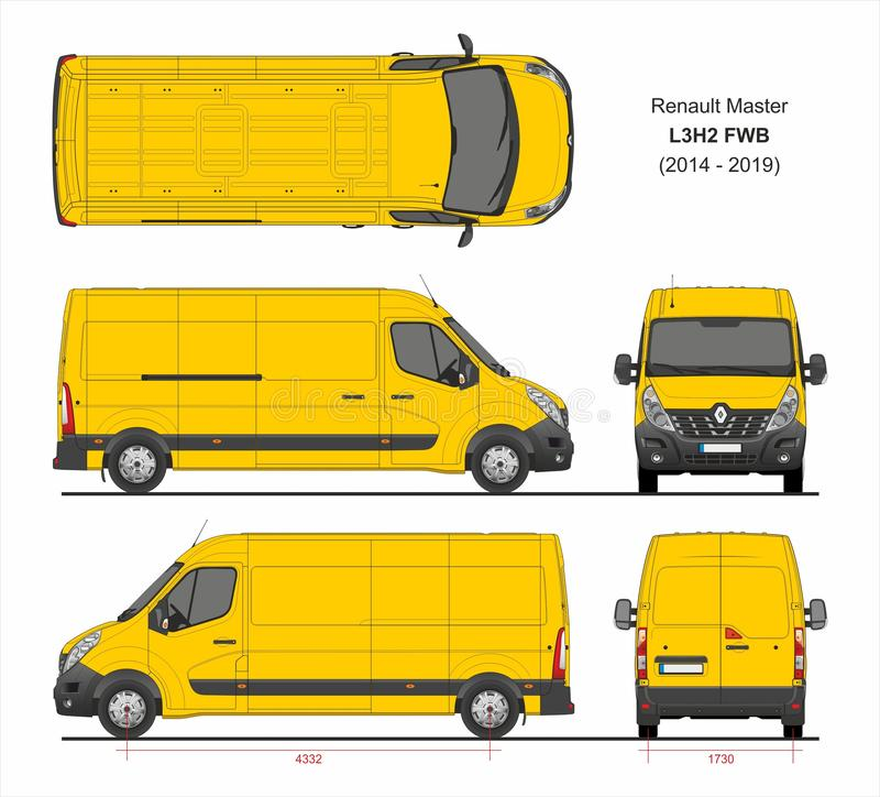 Renault Master Cargo Delivery Van L3H2 FWB 2014-2019 illustration de vecteur