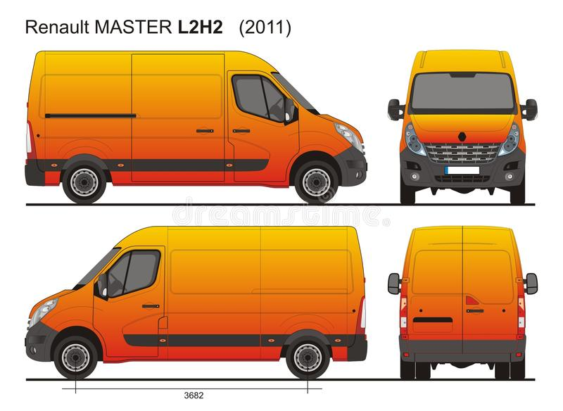 renault master van l2h2 2011 redactionele stock foto illustratie bestaande uit meester lading. Black Bedroom Furniture Sets. Home Design Ideas