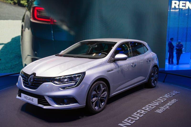 Renault Megane - Weltpremiere stockbild