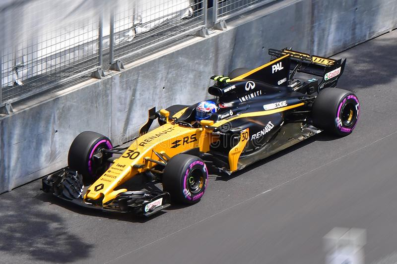 RENAULT-PALMER-GP FORMULA 1 MONACO 2017 stock photos
