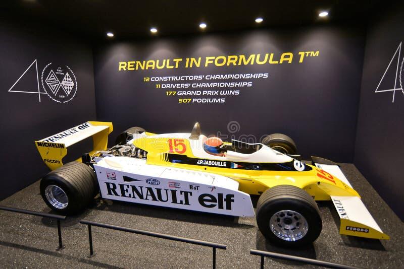 89th Geneva International Motor Show - Renault RS10 1979 F1 car royalty free stock image