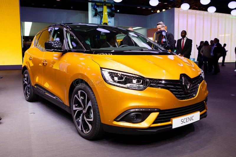 Renault Scenic en Ginebra foto de archivo libre de regalías
