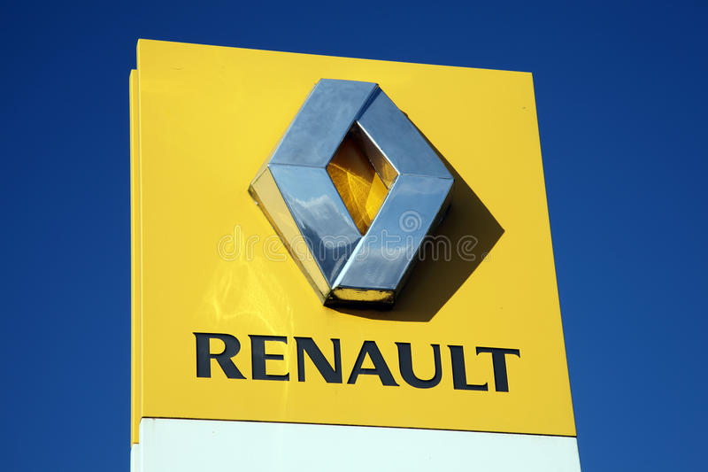 Renault Sign royaltyfria bilder