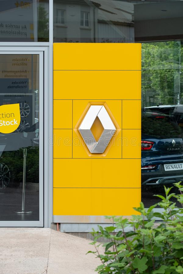 Renault sign and logo stock images