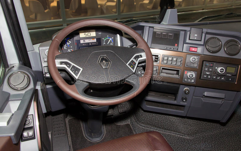 Truck cabin view editorial stock photo  Image of freight