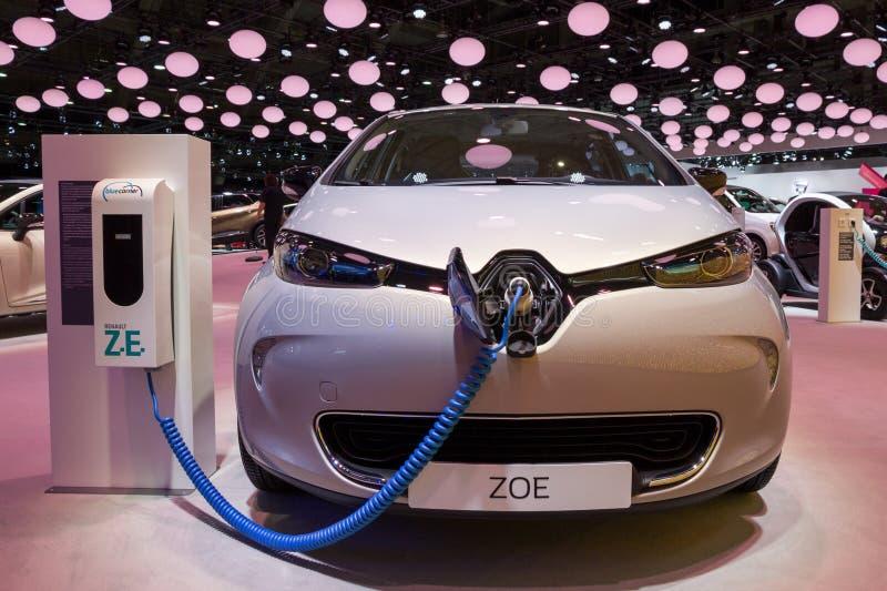 Renault Zoe-Elektroauto stockbilder