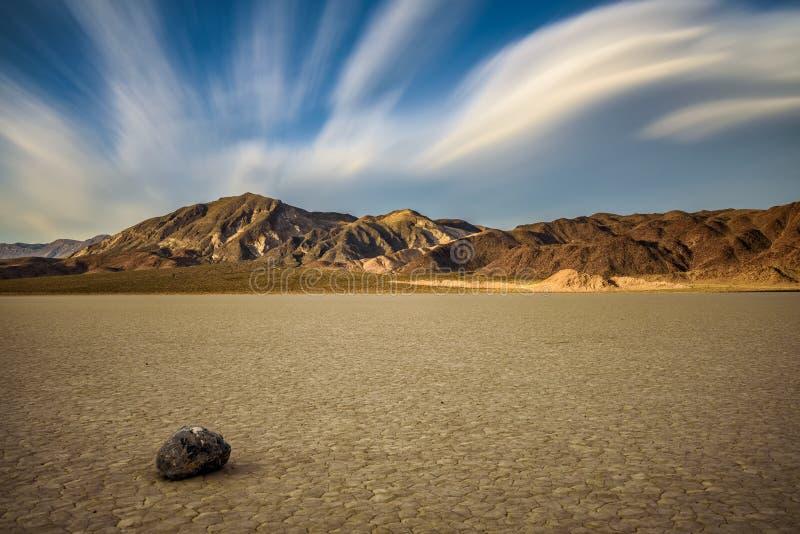 Renbaan Playa in het Nationale Park van de Doodsvallei royalty-vrije stock foto's