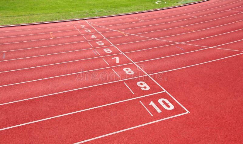 Renbaan voor atleten stock fotografie