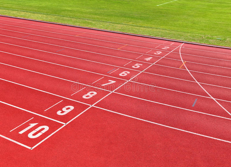 Renbaan voor atleten stock afbeelding
